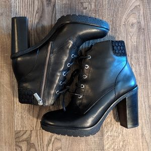 Michael Kors Black Sassy Combat High Heel Boots